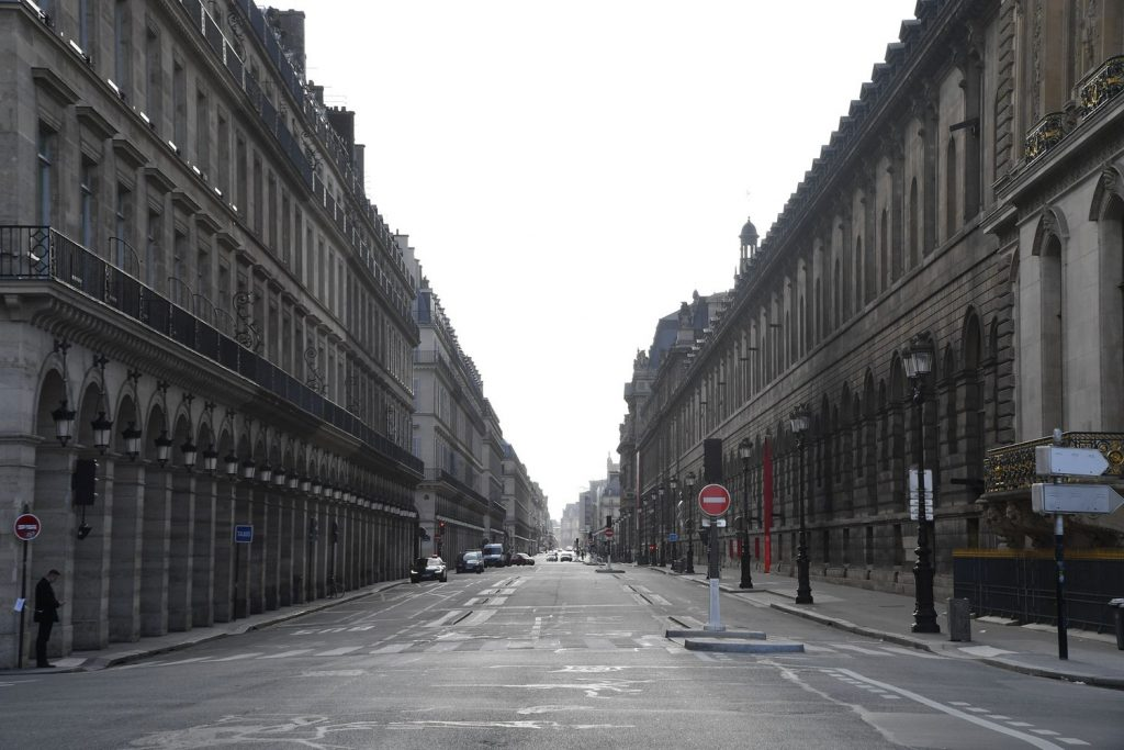 Rue de Rivoli in Paris, France